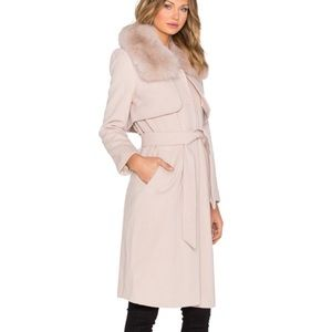 Halston Heritage Wool Fur Coat